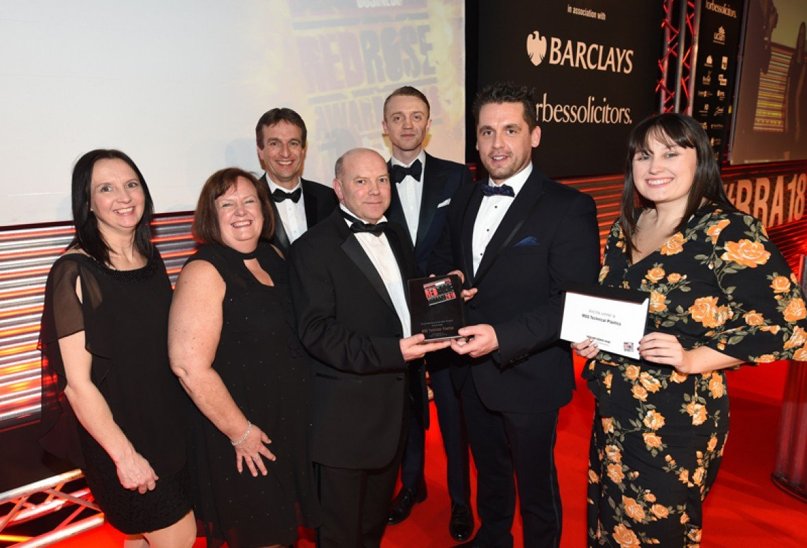 The MGS Team collecting the Engineering Excellence Award